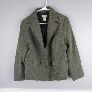 Ladies Tweed Pea Coat by L.L. Bean, size L